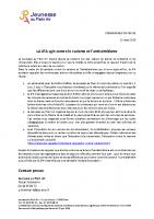 Communiqué de presse de la JPA sur la lutte contre le racisme et l'antisémitisme
