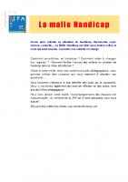 Malle Handicap – Contenus